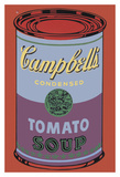 Colored Campbell's Soup Can, 1965 (blue & purple) Kunstdrucke von Andy Warhol