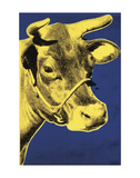 Cow, 1971 (blue & yellow) Kunst af Andy Warhol