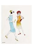 Untitled (Two Female Fashion Figures), c. 1960 Kunst von Andy Warhol