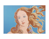 Details of Renaissance Paintings (Sandro Botticelli, Birth of Venus, 1482), 1984 (blue) Posters por Andy Warhol