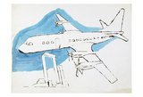 Airplane, c. 1959 Stampe di Andy Warhol
