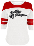 Women's Raglan: Suicide Squad - Daddy's Little Monster T-skjorten med raglanermer for damer