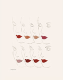 Untitled (Female Faces), c. 1960 Posters van Andy Warhol