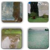 Gustav Klimt Coaster Set 10 Coaster