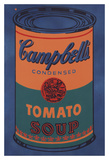 Colored Campbell's Soup Can, 1965 (blue & orange) Kunst af Andy Warhol