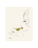 Untitled (Female Head), c. 1958 ポスター : アンディ・ウォーホル