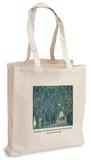 Gustav Klimt - Avenue in Park Kammer Mansion Tote Bag Handleveske