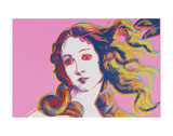 Details of Renaissance Paintings (Sandro Botticelli, Birth of Venus, 1482), 1984 (pink) Poster by Andy Warhol