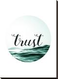 Trust– Blindes Vertrauen Bedruckte aufgespannte Leinwand von Pop Monica