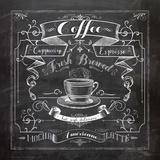 Chalkboard Coffee Láminas por Washburn Lynnea