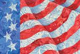 Spangled Stars & Stripes Poster von Paul Brent