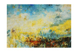 Teal Fields Giclee-trykk av Jodi Maas