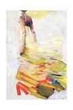 Pale Yellow Dress Giclee Print by Kari Taylor