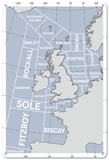 The Shipping Forecast Regions Map Blechschild