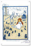 The Wizard of Oz - Dorothy Meets the Queen Blechschild