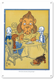 The Wizard of Oz - Cowardly Lion Eating Supper Blechschild
