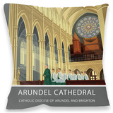 Arundel Cathedral Cushion Throw Pillow