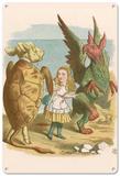 Alice in Wonderland - Mock Turtle and Gryphon Blechschild