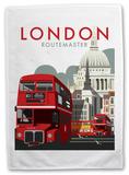London Routemaster Bus Tea Towel Novelty