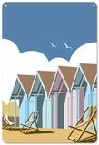 Strandhütten Blechschild