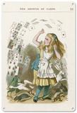Alice in Wonderland - The Shower of Cards Blechschild