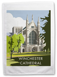 Winchester Cathedral, Winchester, Hampshire Tea Towel Novelty