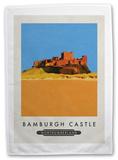 Bamburgh Castle, Northumberland Tea Towel Novelty