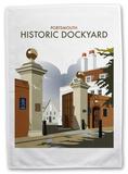 Portsmouth Historic Dockyard, Hampshire Tea Towel Novelty