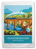 Knaresborough, Yorkshire Tea Towel Novelty