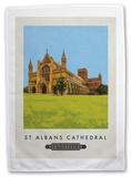 St. Albans Cathedral, Hertfordshire Tea Towel Novelty