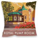 Royal Pump Room, Harrogate Cushion Throw Pillow