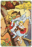 The Wizard of Oz - Dorothy and Her Companions on a Tree Blechschild