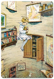 Alice in Wonderland - Falling Down the Rabbit Hole Blechschild