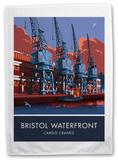 The Waterfront Cranes in Bristol Tea Towel Novelty