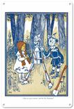 The Wizard of Oz - Dorothy, Tin Woodman, Scarecrow Blechschild