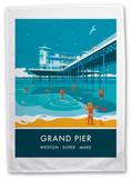 Grand Pier, Weston-Super-Mare Tea Towel Novelty