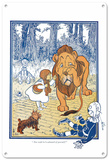 The Wizard of Oz - Dorothy and the Cowardly Lion Blechschild