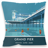 Grand Pier, Weston-Super-Mare Cushion Throw Pillow
