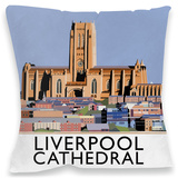 Liverpool Cathedral Cushion Throw Pillow