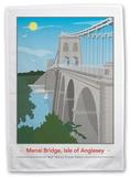 Menai Bridge, Anglesey Tea Towel Novelty