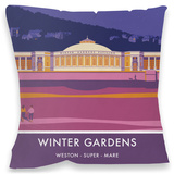 Winter Gardens, Weston-Super-Mare Cushion Throw Pillow