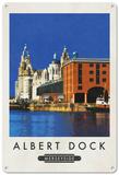 Albert Dock, Liverpool Blechschild