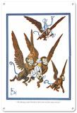 The Wizard of Oz - Dororthy and the Flying Monkeys Blechschild