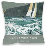 Corryvreckan, Isle of Jura Cushion Throw Pillow