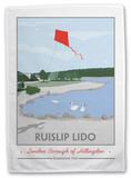 Ruislip Lido Tea Towel Novelty