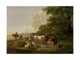 Landscape with Cattle Poster von Pieter Gerardus van Os