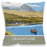 Craighouse, Isle of Jura Cushion Throw Pillow