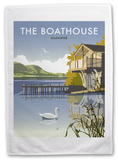 Boathouse, Ullswater, Lake District Tea Towel Novelty