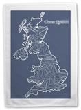 UK Counties Tea Towel Novelty