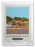 Scarborough, Yorkshire Tea Towel Novelty